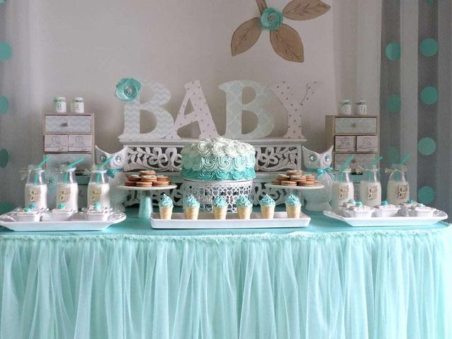 baby shower niño mesa de dulces