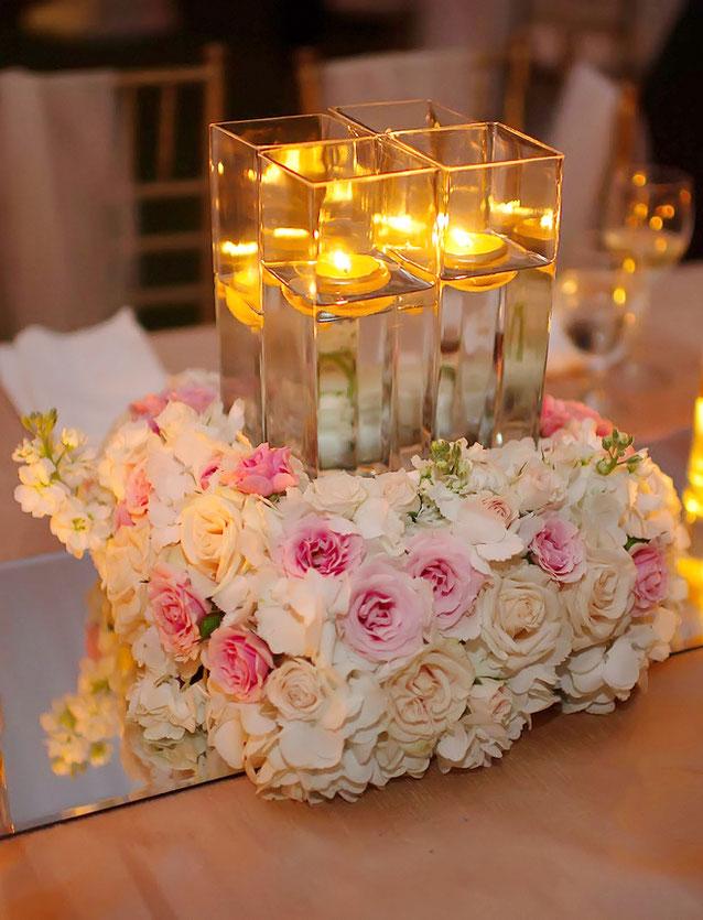 flores de mesa para 15 años