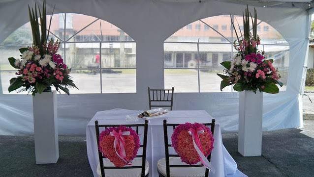 mesa principal para boda civil
