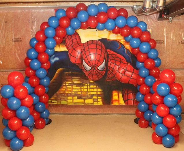 decoracion cumpleaños spider man