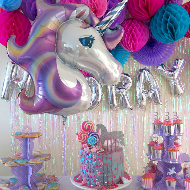 decoracion fiesta unicornio