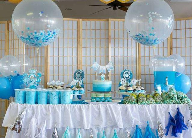 coleccion de mesa de dulces de baby shower