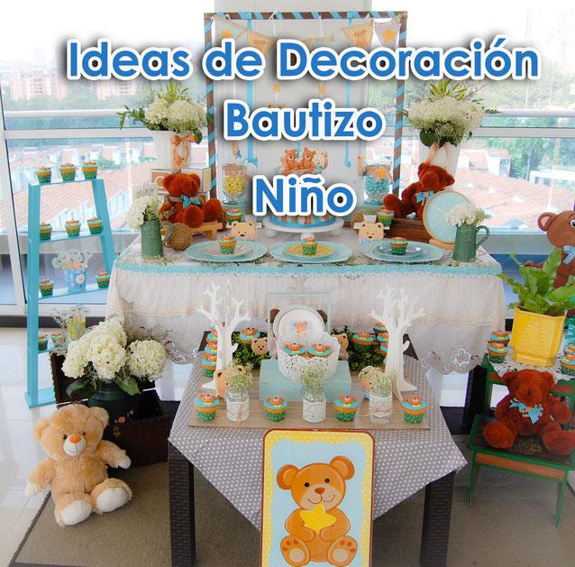 ideas decoracion bautizo de niño