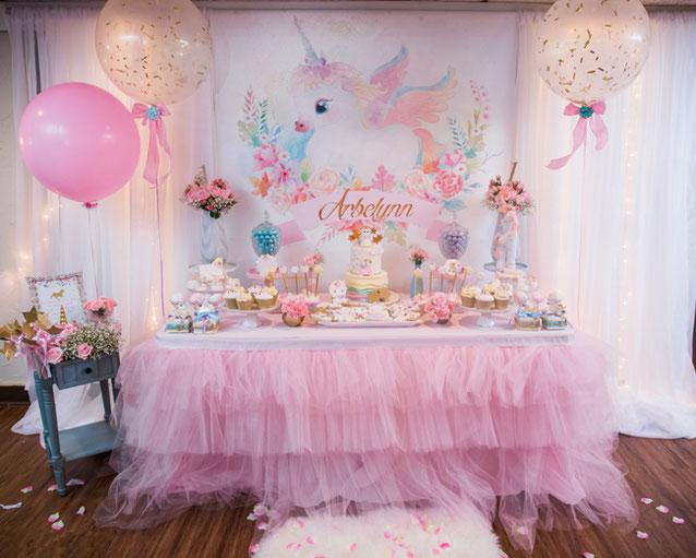 decoracion cumpleaños fiesta unicornio