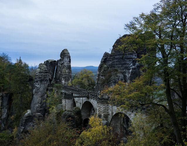 Die Basteibrücke bei dem Kurort Rahten