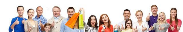 Glückliche Menschen haben ihren Ratenkredit als schnell Kredit