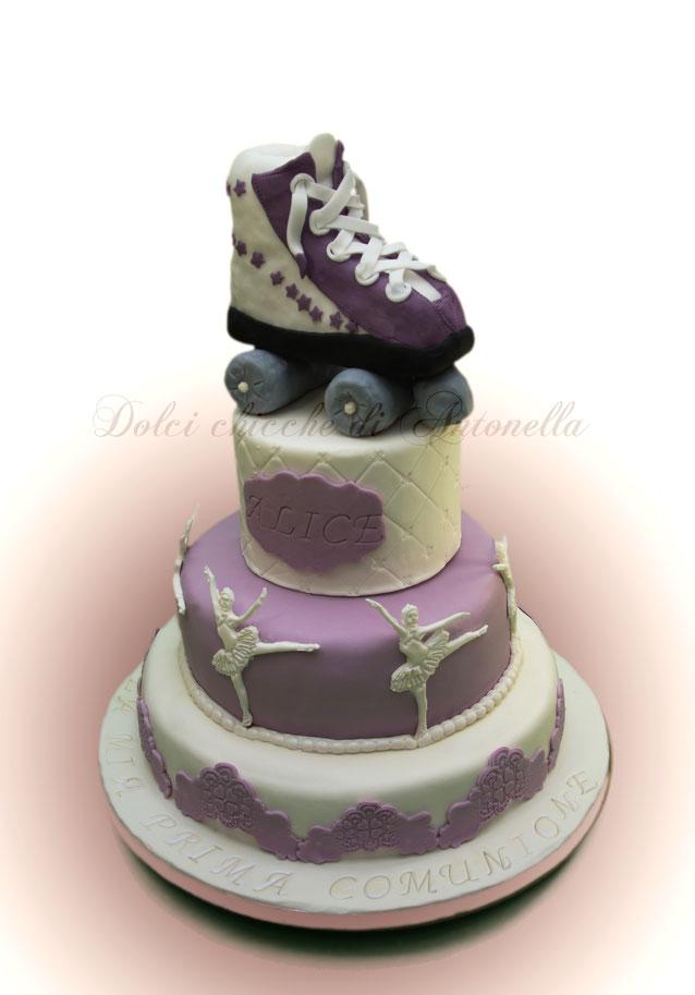 torta ballerina-danza-pattinatrice-pattini-pattinaggio-dolci-la spezia-torte decorate-sarzana