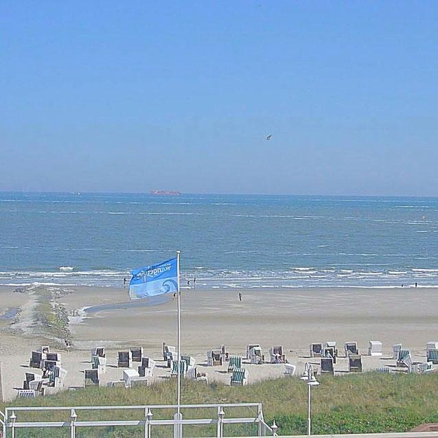 Wangerooge Ferienwohnungen Meerblick und Strandblick aus der Wohnung 41