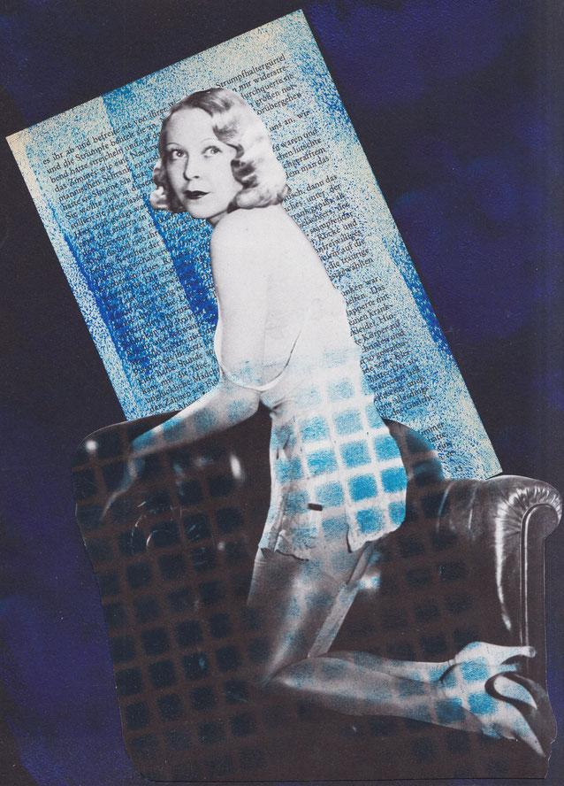 """""""Fucking Bataille"""", 2018. Acyl, Papier auf schwarzem Leichtkarton. 21,5x29,5cm."""