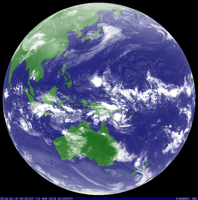 Colorized satellite image of Severe Tropical Cyclone Savannah. From JMA