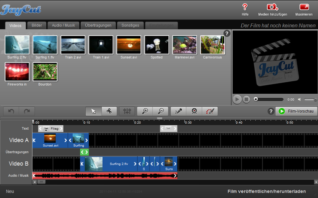 Jaycut, kostenlose Videobearbeitung, Kostenlose Software, Videos schneiden, YouTube Videos erstellen, VIDEOS ERSTELLEN ANLEITUNG
