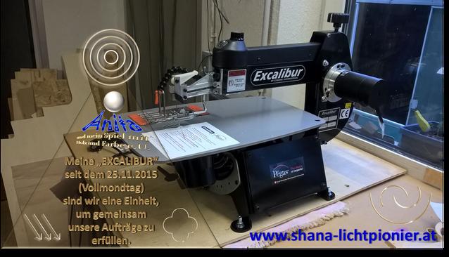 EXCALIBUR von www.shana-lichtpionier.at / ANITA-und mein Spiel mit Holz und Farbe e.U.