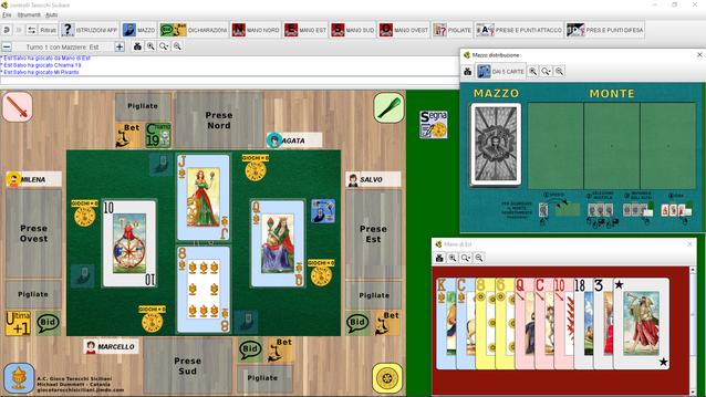 Screenshot delle finestre principali del gioco