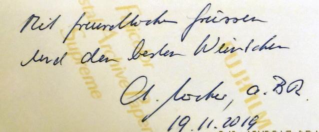 Autograph Christoph Blocher Autogramm