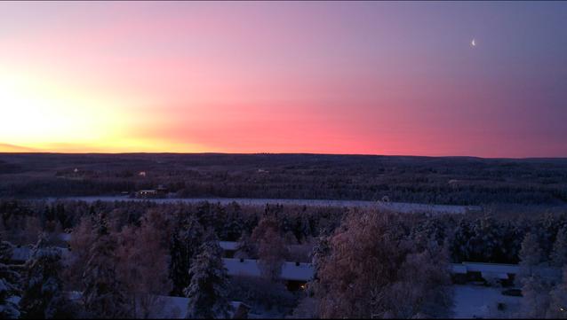 Photo prise depuis un drone à une température avoisinant les -25degrès