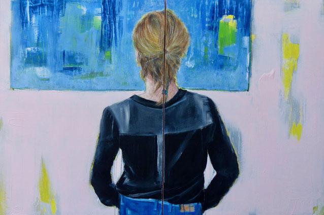 POSTERIORE /444 - Acryl/Öl auf Leinwand - 80 x 120 cm - 2019