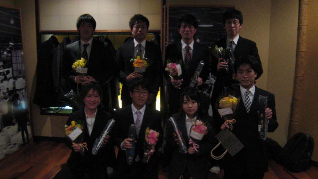 丸川先輩、大澤先輩、井上先輩、粟谷先輩、加嶋先輩、宇和川先輩、佐藤先輩、東先輩、ご卒業おめでとうございます。