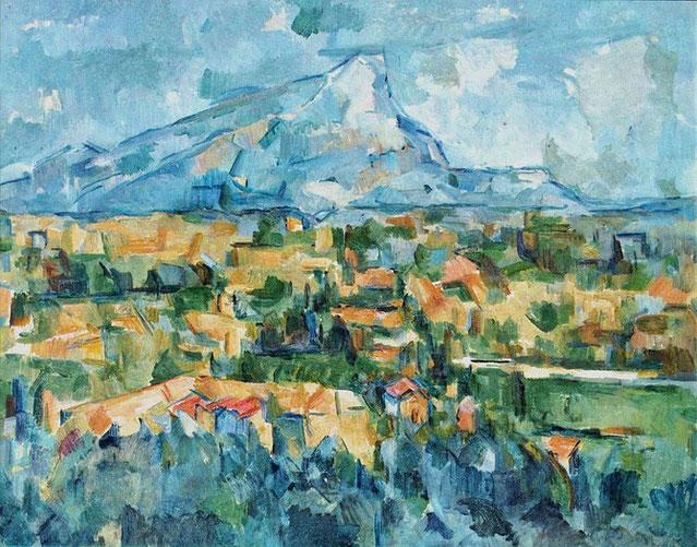 ポール・セザンヌ《サント・ヴィクトワール山》1904年