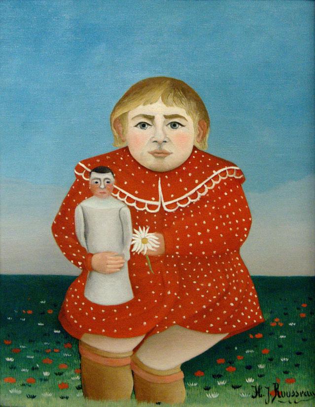 アンリ・ルソー《子どもの肖像》1908年