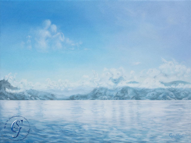 Artic blue, 80x60 cm, Öl auf Leinwand