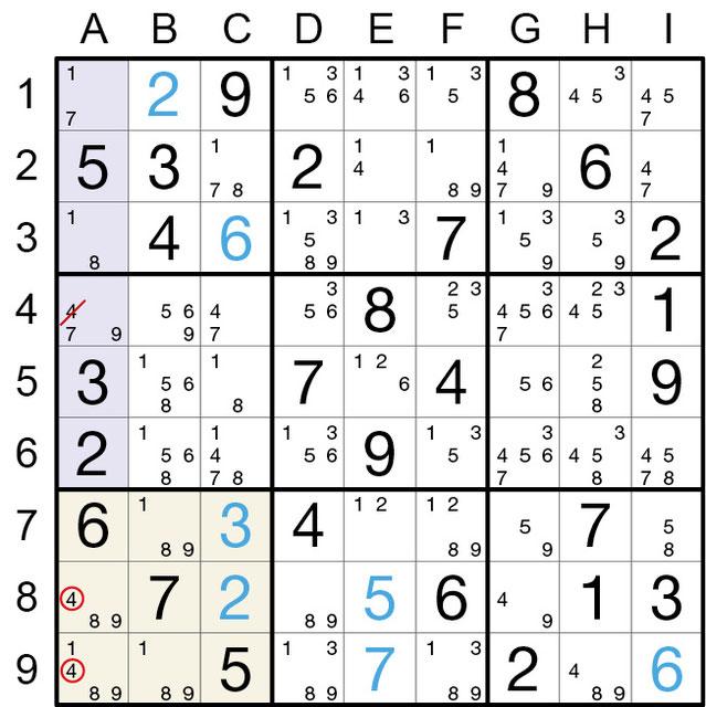 Sudoku Lösungsstrategie BRC© Rätselbüro Martin Simon