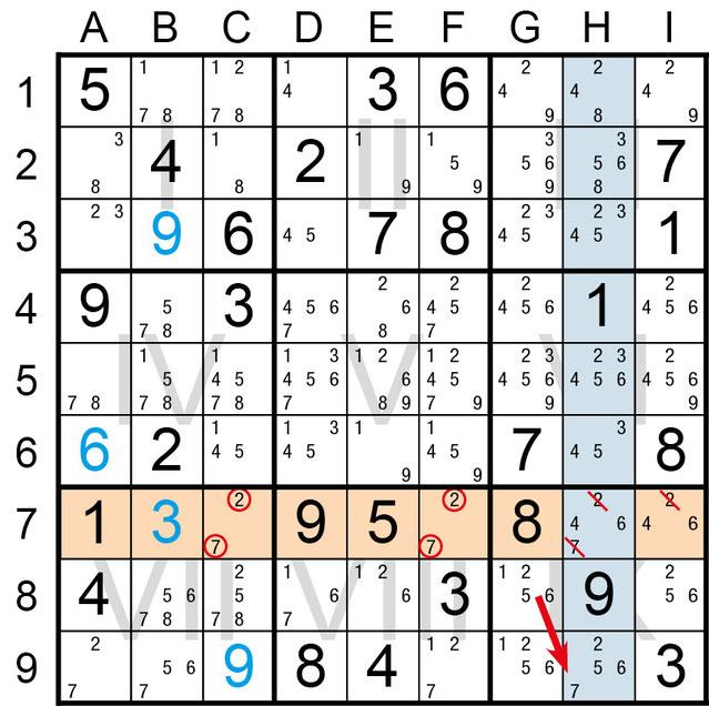 Sudoku Lösungsstrategie Nacktes Paar© Rätselbüro Martin Simon