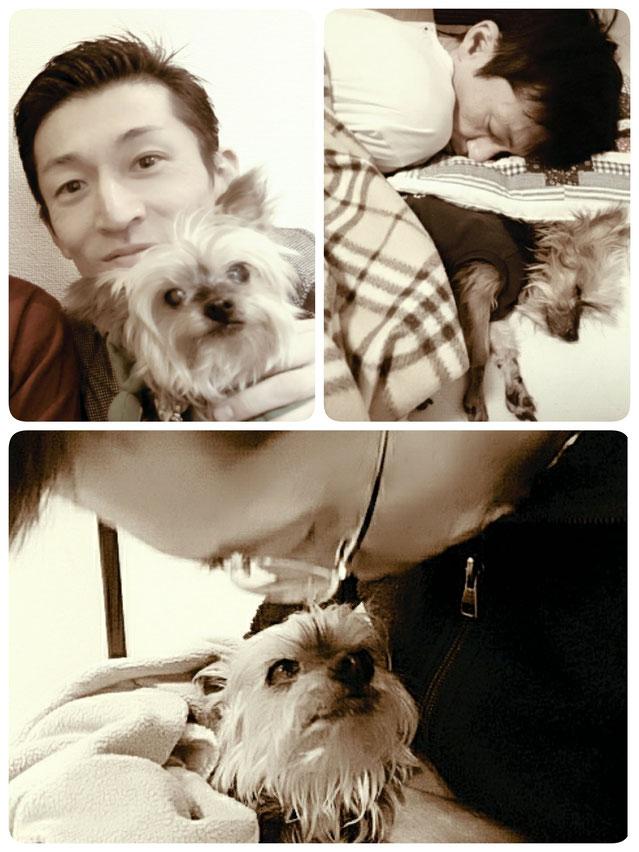 ペットセレモニーお星さま代表坂本晴昭と愛犬との写真