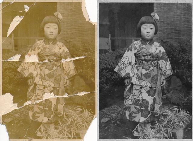 古い写真の修正