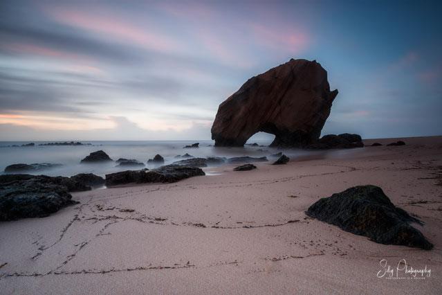 Portugal / Penedo do Guincho, Santa Cruz, Langzeitbelichtung, Sandstein Arch, 2016, ©Silly Photography