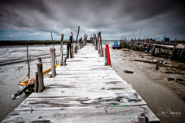 Portugal / Carrasqueira, Setubal, Holzstege, Langzeitbelichtung, 2016, © Silly Photography