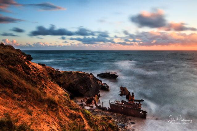 Portugal / Vilanova de Milfontes, Alentejo, Schiffswrack, Langzeitbelichtung, 2016, © Silly Photography