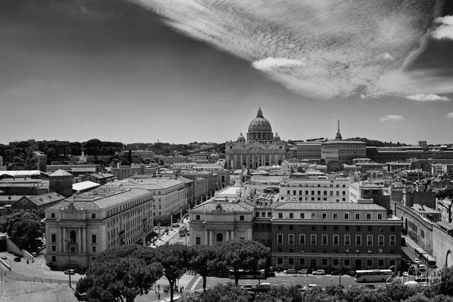 Rom / Petersdom / Vatikanstaat, Blick von der Engelsburg, 2014, © Silly Photography