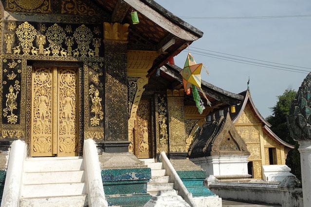 Détails de la façade arrière d'un des temples.