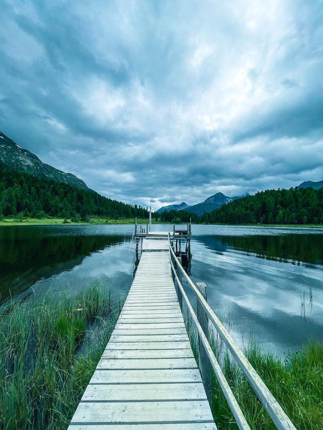 Stazer See (St. Moritz) Juli 2021