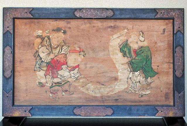 絵馬「唐子遊び」 高幢寺什物
