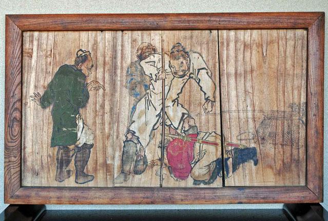 絵馬「韓信の股くぐり」 高幢寺什物