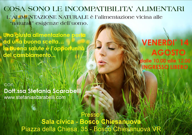 compatibilità alimentari naturopatia olistica counseling Stefania Scarabelli