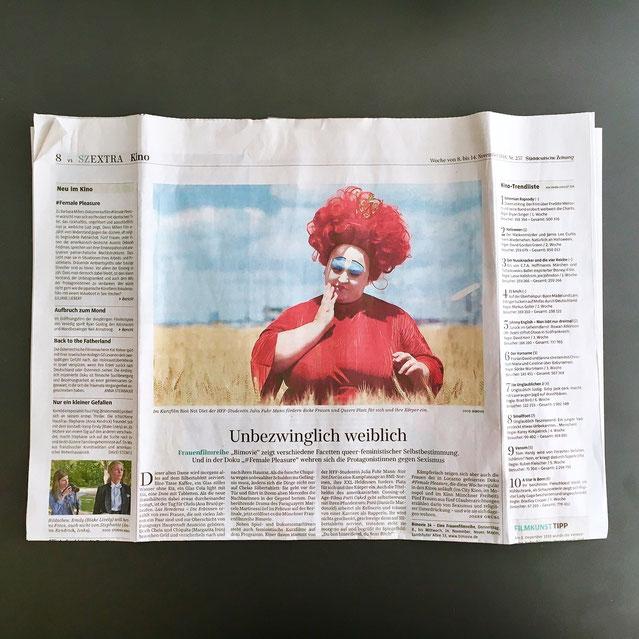 Zeitungsartikel Süddeutsch Zeitung, 08.-14.11.2018, Foto: Julia Swoboda