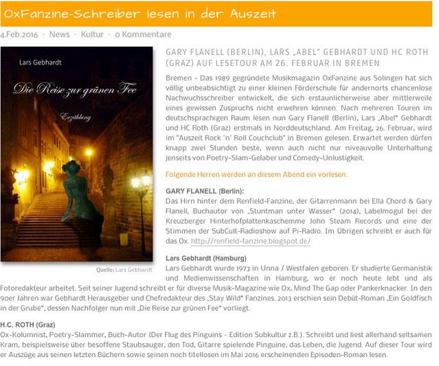 Lars Gebhardt - Ox Fanzine Schreiber auf Tour - HB People