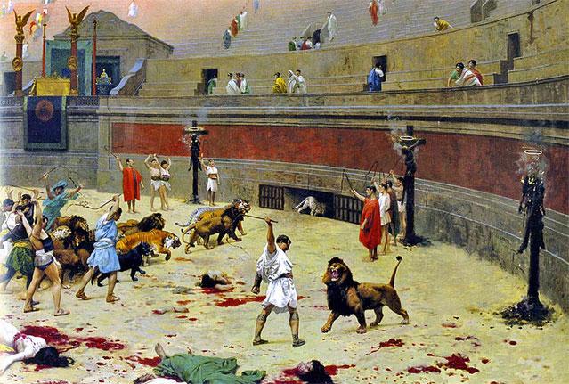 Dioclétien, empereur de l'empire romain oriental persécute les chrétiens ; c'est l'ère des martyrs. Excité par Galère, son gendre, il publie 4 édits de persécution qui ordonnent de démolir les églises, brûler les livres saints, emprisonner, torturer, tuer