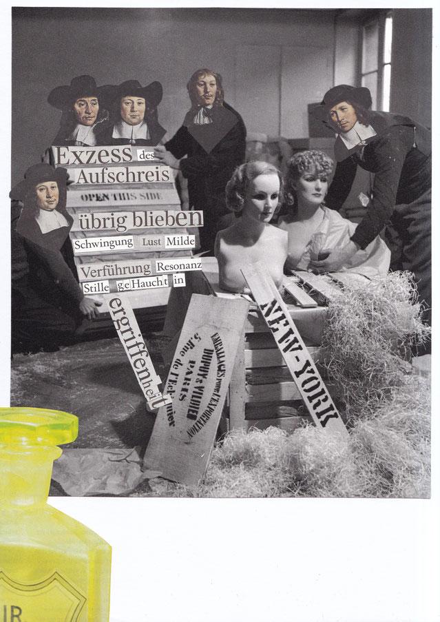 """""""Abbitte"""", 2018.  Papier auf Leichtkarton. 21x29,5cm."""