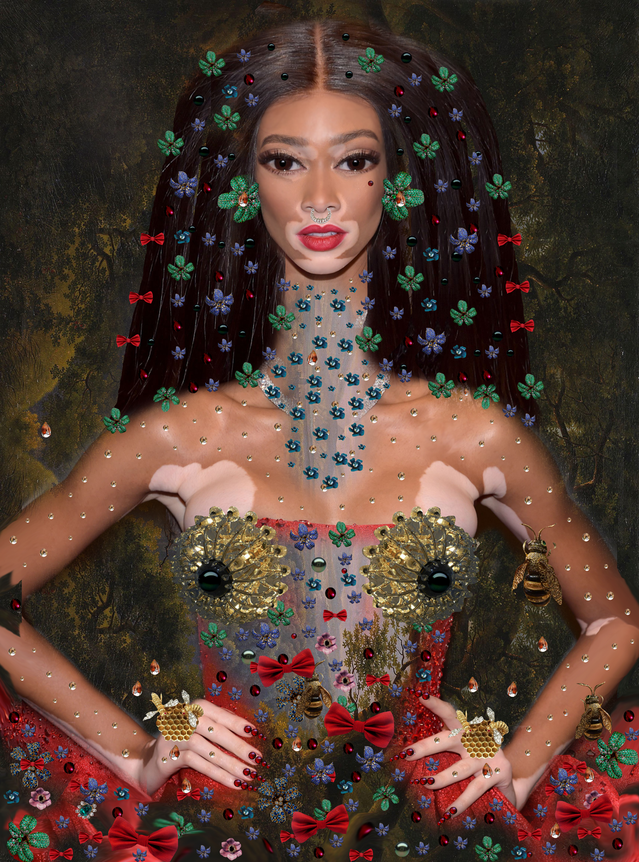 Donna Fantasia - Popart Mixed Media - Inspiration Winnie Harlow