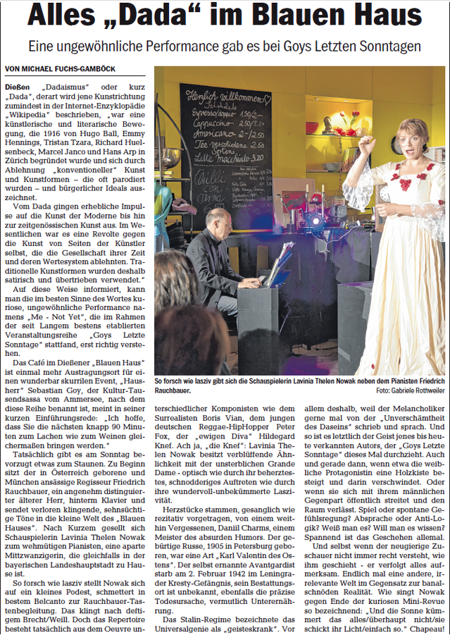 Freitag, 11. Oktober 2019, Kultur Ammersee Kurier | Seite 7
