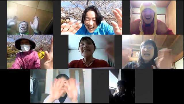 2020年4月11日松阪市鈴の森公園笑いヨガ