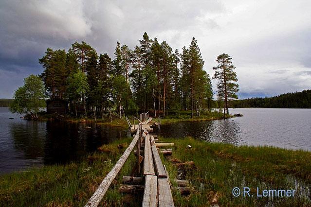Saunainsel im Rackosjön See