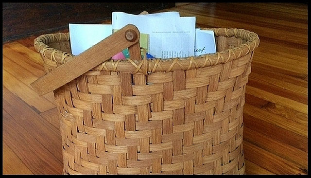 Thinking About My Favorite Things:  My mother's handmade baskets
