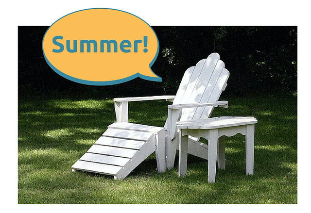 Relax in an adirondack chair this summer