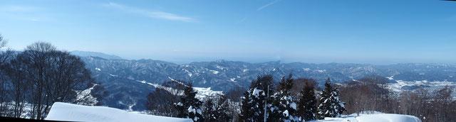 今日は敦賀半島・日本海・越知山山系もよく見えました