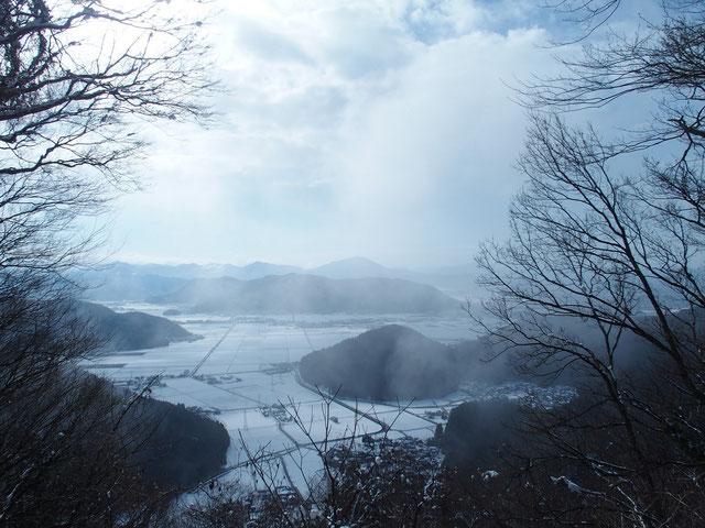 日野山も綺麗な姿を見せていた