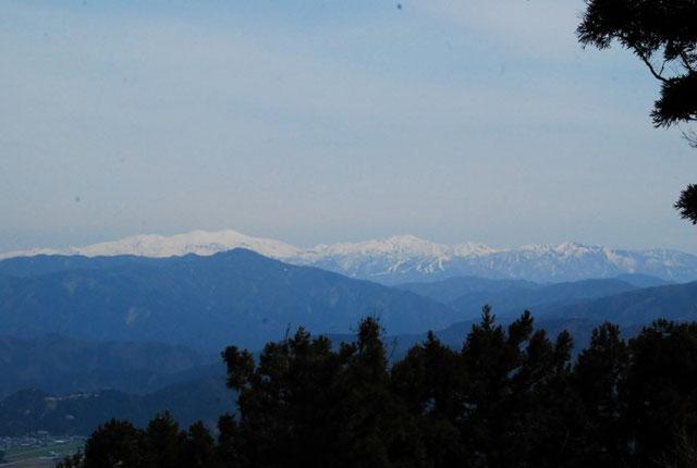 白山もよく見えていました